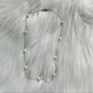 NEW White freshwater small pearls necklace